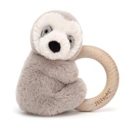 Jellycat Shooshu Sloth Rattle - Rammelaar Luiaard
