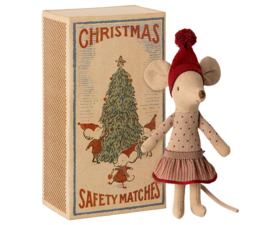 Maileg Kerst Muis Big Sister in Box - Christmas Mouse