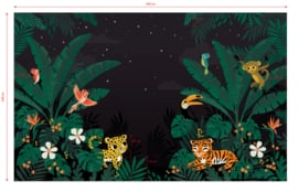Lilipinso Jungle Night Behang Paneel - Jungle Night (400 x 248 cm)