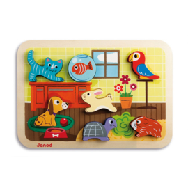 Janod Chunky Puzzel - Huisdieren +1jr