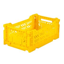 AyKasa Folding Crate Mini Box - Yellow