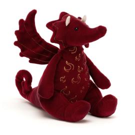 Jellycat Knuffel Draak - Ruby Dragon (19 cm)