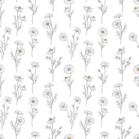 Lilipinso Chamomile Behang - Chamomile White