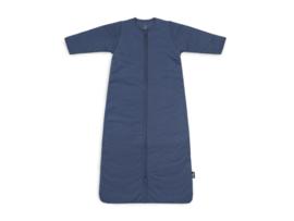 Jollein Slaapzak Basic Stripe afritsbare mouwen - Jeans Blue (110 cm)