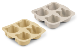 Liewood Bakvormen Mariam Cake Pan - Wheat Yellow Sandy Mix (2 stuks)
