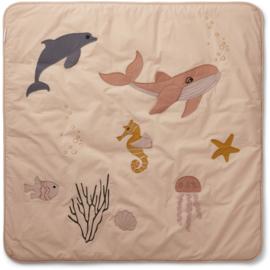 Liewood Glenn Activity Blanket Speelkleed - Sea Creature Rose Mix