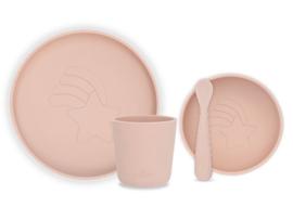 Jollein Kinderservies Siliconen Diner Set - Pale Pink