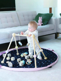 Play and Go Soft Speelgoedkleed en Opbergzak - Flowers