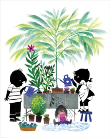 Kek Amsterdam Jip en Janneke Behangpaneel - Gardening (142,5 x 180 cm)