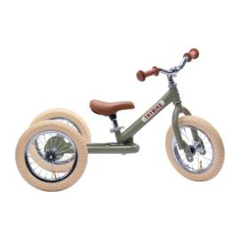 Trybike Steel 2-in-1 Loopfiets - Vintage Groen