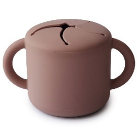 Mushie Snack Cup - Claudy Mauve