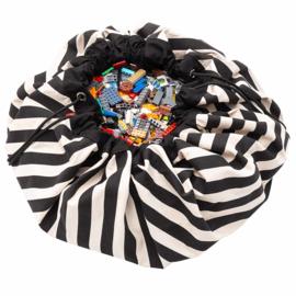 Play and Go Speelgoedkleed en opbergzak - Strepen Zwart
