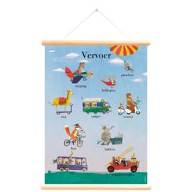 Little and Pure Schoolplaat Grootzus - Vervoer (dubbelzijdig)