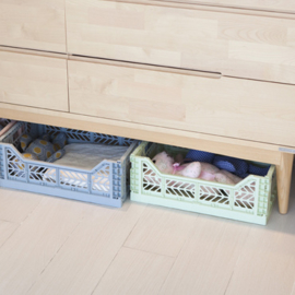 AyKasa Folding Crate Maxi Box - Pale Blue