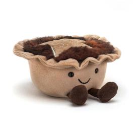 Jellycat Kerst Collectie Amuseable Mince Pie - hartig pasteitje