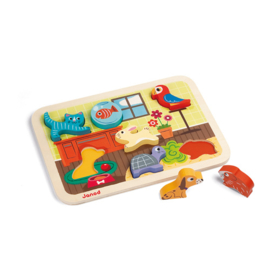 Janod Chunky Puzzel - Huisdieren +1jr