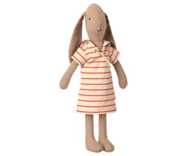 Maileg Bunny with Striped Dress - Size 2 (32 cm) (2021)