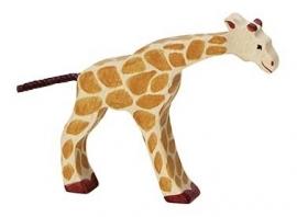 Holztiger Giraffe (klein) - Drinkend (80156)