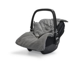 Jollein Voetenzak voor Autostoel en Kinderwagen Basic Knit - Stone Grey