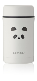 Liewood Bernard Food Jar - Panda Light Grey (500 ml)