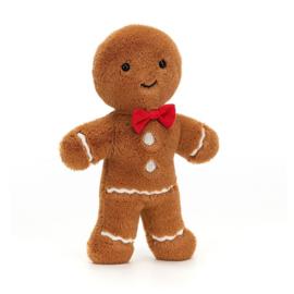 Jellycat Kerst Knuffel Jolly Gingerbread Fred -  TaaiTaai poppetje (19 cm)