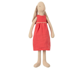 Maileg Bunny with Red Dress - Size 3 (42 cm)