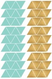 Pom Muurstickers - Driehoekjes (goud/mint) (op=op)