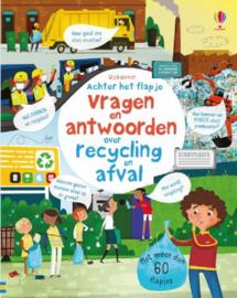 Uitgeverij Usborne Vragen en Antwoorden over Recycling en Afval (flapjesboek) +5jr