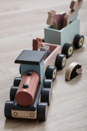 Kids Concept Houten Speeltrein met Diertjes - Edvin