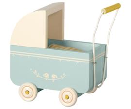 Maileg Kinderwagen Pram Micro - Blue