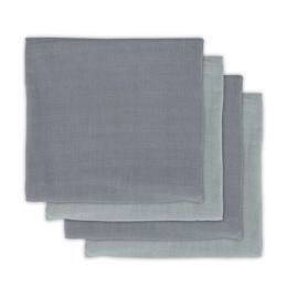 Jollein Bamboe Hydrofiele Multidoek Small -  Storm Grey (set van 4)