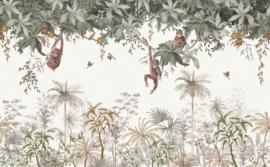 Lilipinso Utan Behang Paneel - Gunung Palung (400 x 248 cm)