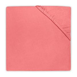 Jollein Hoeslaken Ledikant Jersey - Coral Pink (60 x 120 cm)