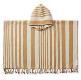 Liewood Roomie Poncho - Stripe Mustard / Sandy (1 - 2 jaar)