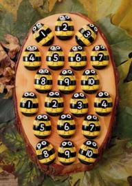 Yellow Door Cijferstenen Honingbij + 2jr