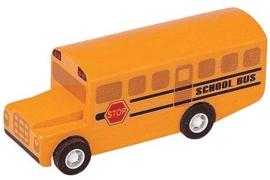 Plantoys Houten Auto - Schoolbus