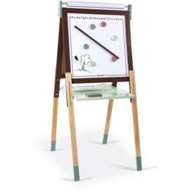 Janod Schoolbord Mintgroen -  In hoogte Verstelbaar (incl. magnetisch white board)