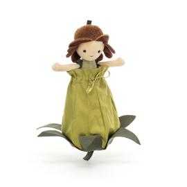 Jellycat Knuffel Elfje Pop - Petalkin Doll Acorn (23 cm)