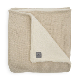 Jollein Deken Teddy Bliss Knit - Nougat (100 x 150 cm)