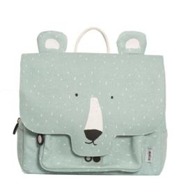 Trixie Rugzak Schooltas Satchel Mr Polar Bear - Mint Groen