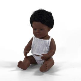 Miniland Pop Afro Amerikaans - Boy (38 cm)
