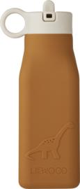 Liewood Drinkfles Warren Waterbottle - Dino Mustard (350 ml)