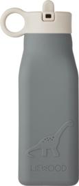 Liewood Drinkfles Warren Waterbottle - Dino Blue Wave (350 ml)