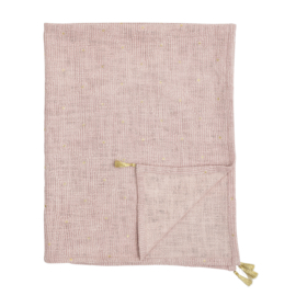 Bloomingville Plaid Balder Throw - Rose Cotton