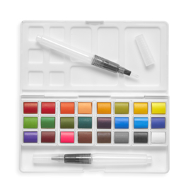 Ooly Aquarel Verf Chroma Blends Travel Watercolor Palette - 24 kleuren