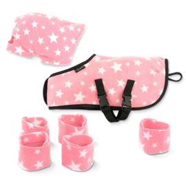 Crafty Ponies Knuffeldeken Set Roze Ster incl. instructieboekje