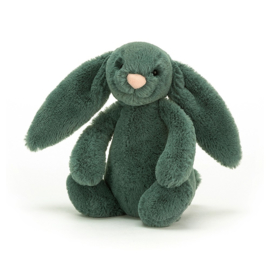 Jellycat Bashful Bunny Forest Green - Knuffel Konijn (18 cm)