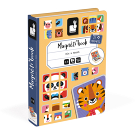 Janod Magneetboek Magneti - Mix and Match Dieren +3jr