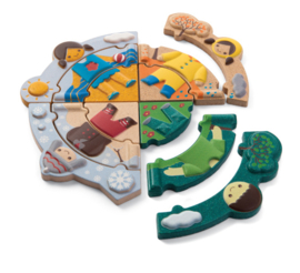 Plantoys Houten Puzzel Seizoenen Puzzel - Weather Dress Up