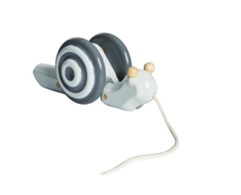 Plantoys Houten Trekspeeltje Slak - Pull-Along Snail (op=op)